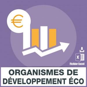 Emails organismes de développement économique