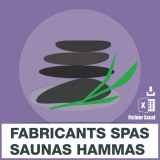 E-mails fabricants saunas hammams spas