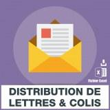 Emails distribution de courriers de lettres et de colis