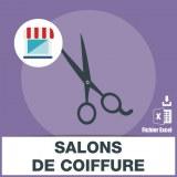 Adresses emails salons de coiffure