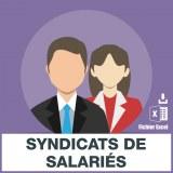 Emails de syndicats de salariés