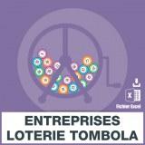 Emails entreprises de loterie tombola