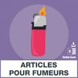 Emails des articles pour fumeurs