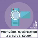 Emails entreprises multimédia numérisation et d'effets spéciaux