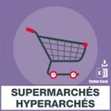 E-mails de supermarchés et hypermarchés