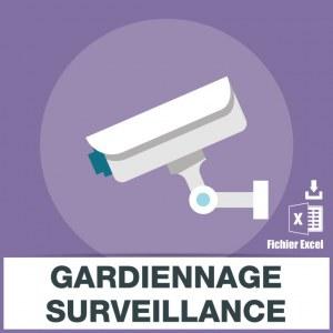 Adresses emails gardiennage surveillance