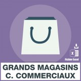 Emails grand magasin centre commerciaux