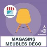 Emails meubles et objets décoration