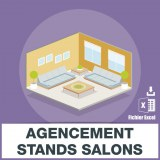 Emails agencement stand salons foires et expositions