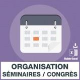 Emails organisation de séminaires et congrès