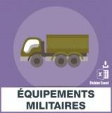 Adresses e-mails équipements militaires