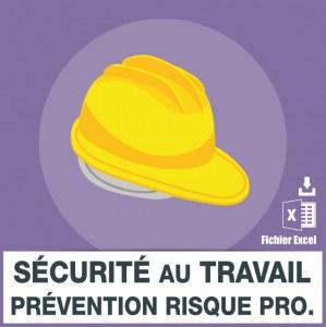 Email sécurité travail prévention risques professionnels