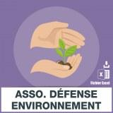 E-mails associations défense environnement
