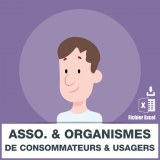 Emails organismes consommateurs et usagers