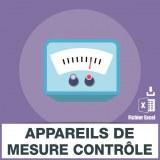 E-mails appareils de mesure controle