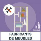 Adresses e-mails fabrication meubles