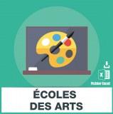 Adresses e-mails ecoles d'art