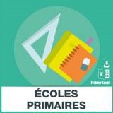 Adresses e-mails écoles primaires