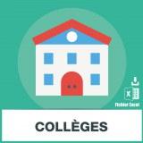 Base adresses emails collèges