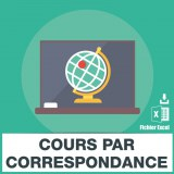 Adresses emails cours correspondance