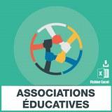 Adresses e-mails associations educatives