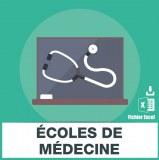 Adresses e-mails ecoles de médecine