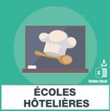 Adresses e-mails ecoles hôtelières