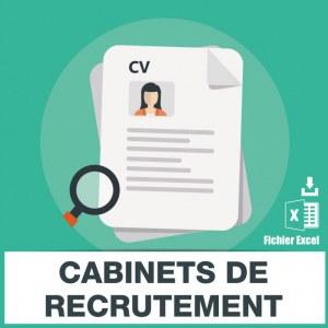 Adresses emails cabinets de recrutement