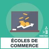 Adresses e-mails ecoles de commerce