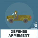 Adresses e-mails défense armement