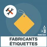 Adresses e-mails fabrication étiquette