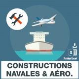 Emails constructions navales et aeronautiques