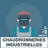Base adresses e-mails chaudronnerie industrielle