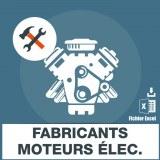 Emails fabricants moteurs electriques