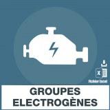 Base adresses e-mails groupes electrogenes