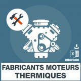 Emails fabricants moteurs thermiques