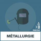 Base des adresses emails de métallurgie