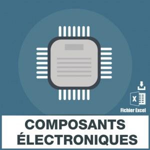 Emails fabricants composants électroniques