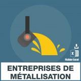 Emails des entreprises de métallisation