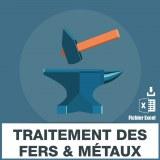 Emails des traitements des fers et métaux