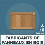 Emails fabricants panneaux bois