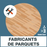 Emails des fabricants de parquets