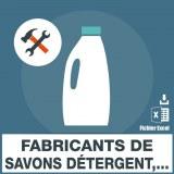 Emails fabricants de savons détergents et lessives
