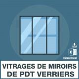Emails des vitrages de miroirs de produits verriers