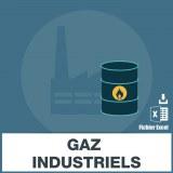 Base adresses emails gaz industriels