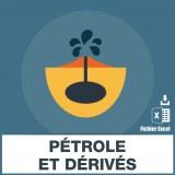 E-mail de distribution de pétrole et dérivés