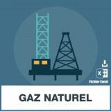 Base adresses emails gaz naturel