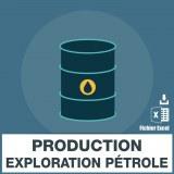 E-mail production exploration pétrole