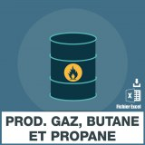 Emails production gaz butane et propane