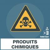 Base adresses emails produits chimiques